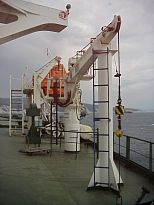 provision crane and life boat